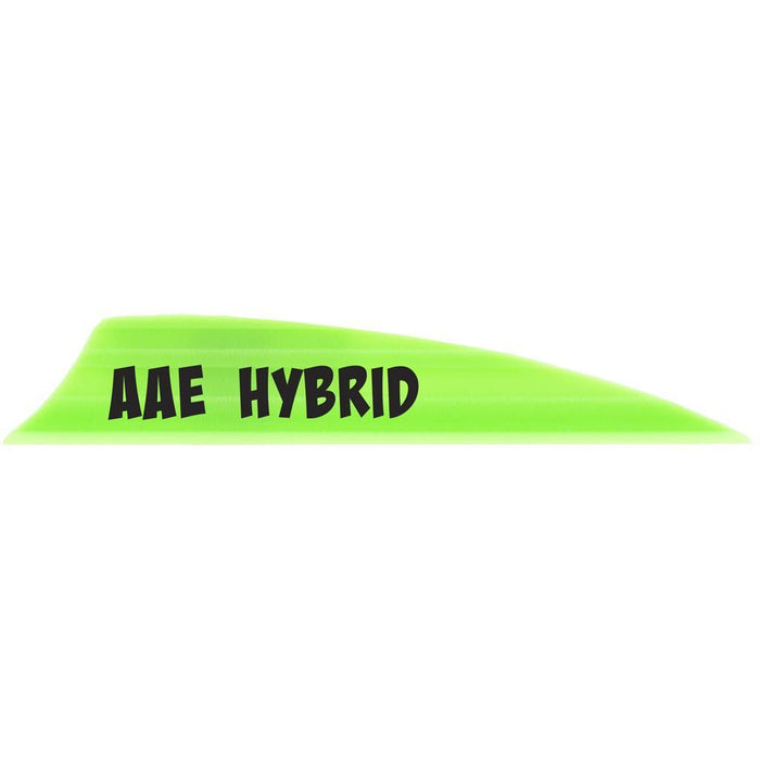 AAE Hybrid 2.0 Vanes Bright Green 1.95 in. Shield Cut 100 pk.