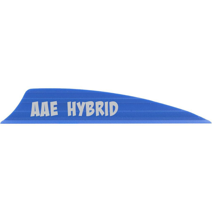 AAE Hybrid 2.0 Vanes Blue 1.95 in. Shield Cut 100 pk.