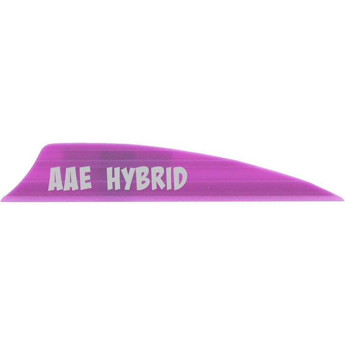 AAE Hybrid 2.0 Vanes Purple 1.95 in. Shield Cut 100 pk.