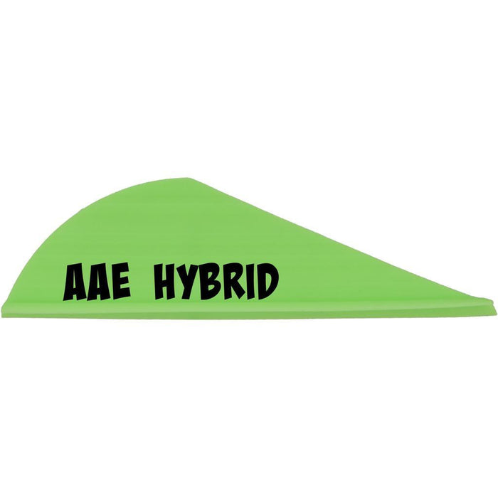 AAE Hybrid HP Vanes Bright Green 2 in. 100 pk.