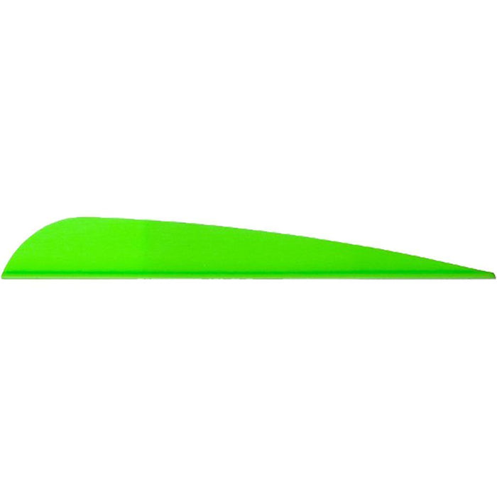 AAE Trad Vanes Bright Green 4 in. 50 pk.