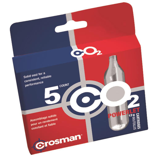 Crosman CO2 Powerlet Cartridge 5 pk.