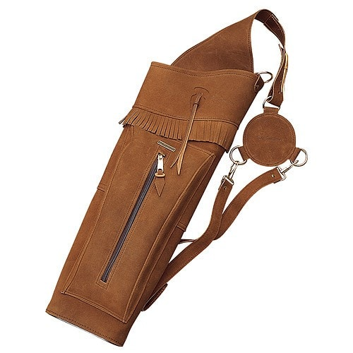 Neet T-BQ-2 Leather Back Quiver Brown RH 22 in. | Archery Quiver