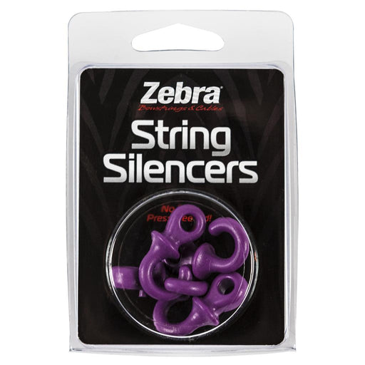 Zebra String Silencers Purple 4 pk.