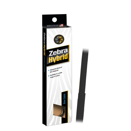 Zebra Hybrid Split Cable Black 32 3/8 in.