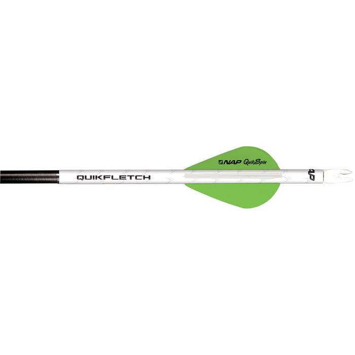NAP Quikfletch w/Quikspin Vanes White/Green 6 pk.