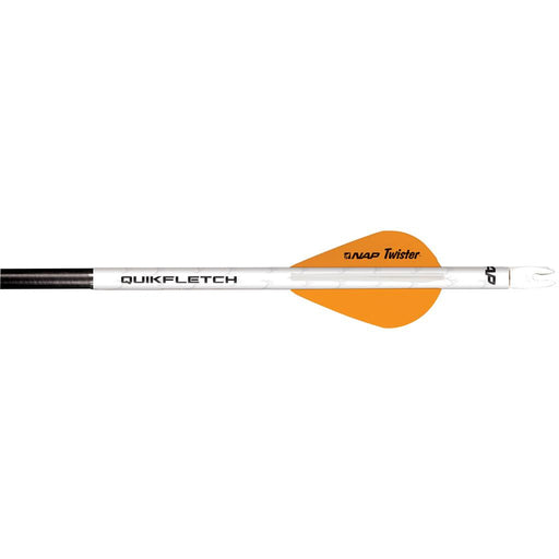 NAP Quikfletch w/Twister Vanes White/Orange 6 pk.
