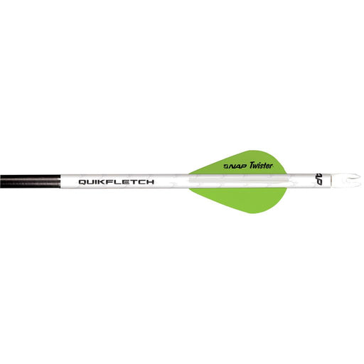 NAP Quikfletch w/Twister Vanes White/Green 6 pk.