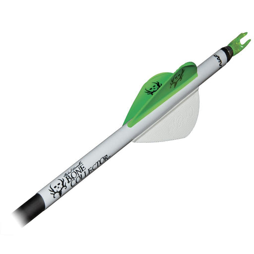 NAP Quikfletch w/Quikspin Vanes Bone Collector White/Green 6pk