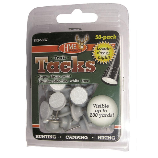 HME Plastic Reflective Tacks White 50 pk.