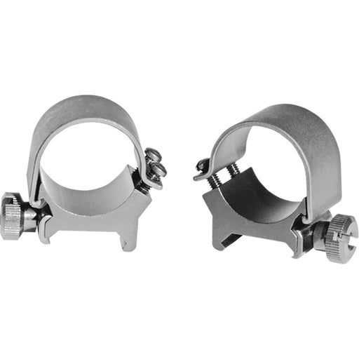 Weaver Detachable Top Mount Rings Silver 1 in. Ring High