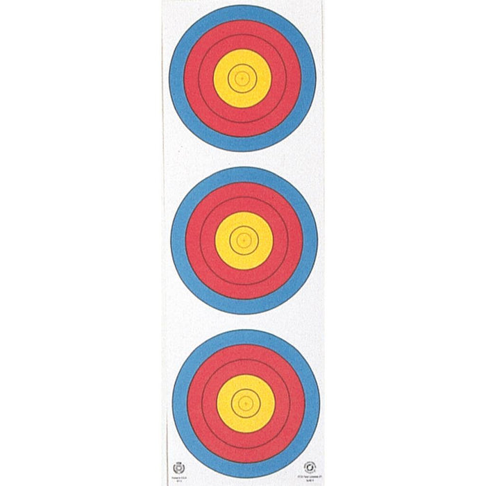 Maple Leaf Target Face 3-Spot Vertical 25 pk.