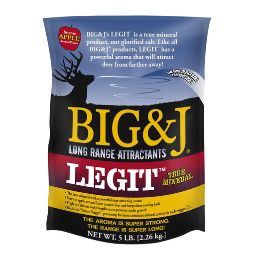 Big And J Legit True Mineral Attractant Apple Flavor 5 lbs.