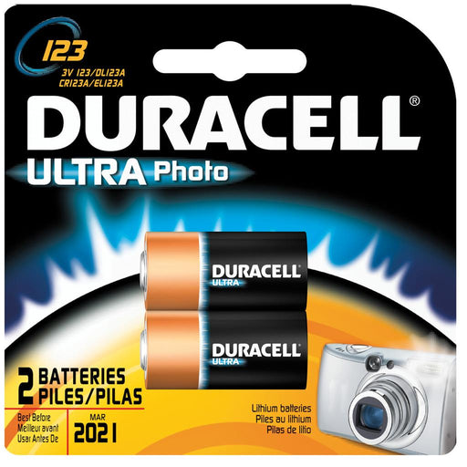 Duracell Lithium Batteries CR123 2 pk.