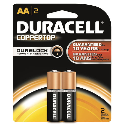 Duracell Coppertop Batteries AA 2 pk.