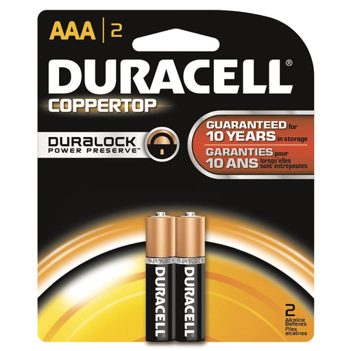 Duracell Coppertop Batteries AAA 2 pk.