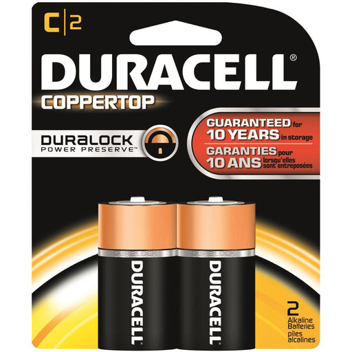 Duracell Coppertop Batteries C 2 pk.