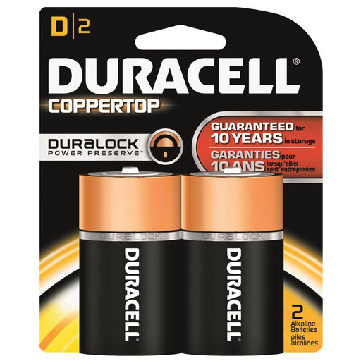 Duracell Coppertop Batteries D 2 pk.