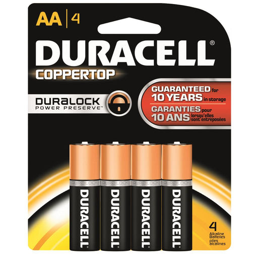 Duracell Coppertop Batteries AA 4 pk.