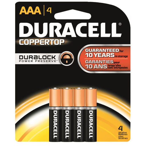 Duracell Coppertop Batteries AAA 4 pk.