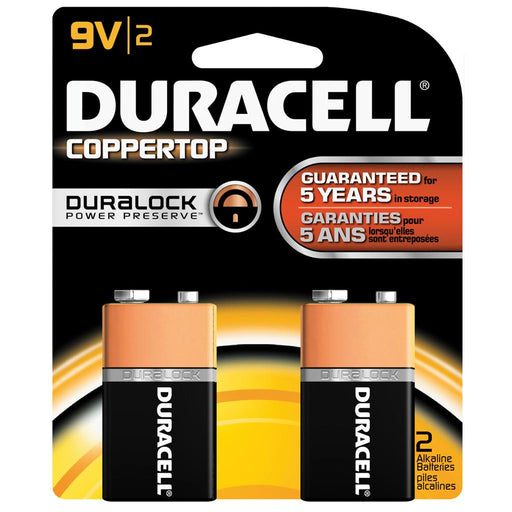 Duracell Coppertop Batteries 9 Volt 2 pk.