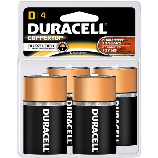 Duracell Coppertop Batteries D 4 pk.