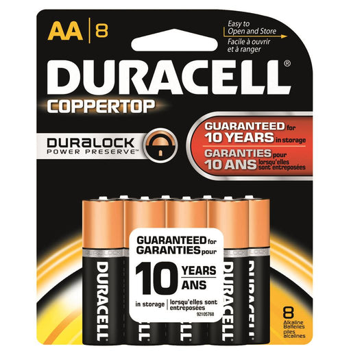 Duracell Coppertop Batteries AA 8 pk.