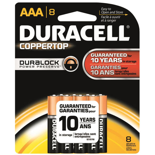 Duracell Coppertop Batteries AAA 8 pk.