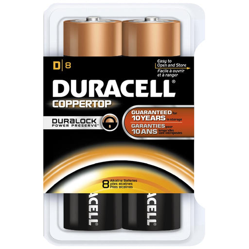 Duracell Coppertop Batteries D 8 pk.
