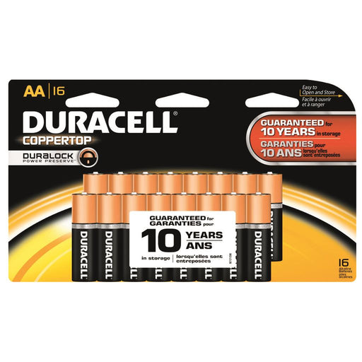 Duracell Coppertop Batteries AA 16 pk.