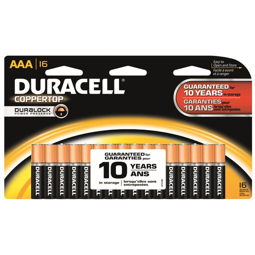 Duracell Coppertop Batteries AAA 16 pk.