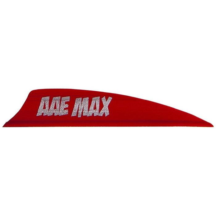 AAE Plastifletch Max Vanes Red 2 in. Shield 100 pk.