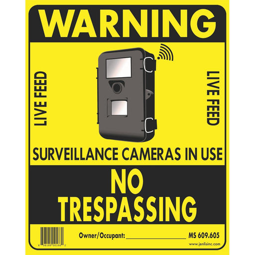 Hard Nosed No Trespassing Sign 10 pk.