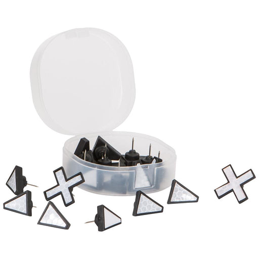 Allen X Marks The Spot Trail Tacks White 20 pk.
