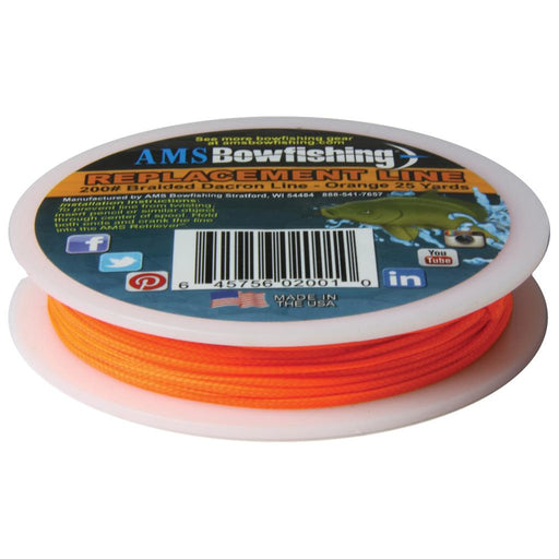 AMS Retriever Bowfishing Line Orange 200 lb. 25 yds.
