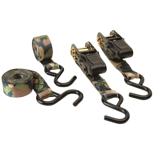 HME Ratchet Tie Down Camo 2 pk.