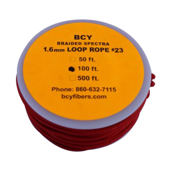 BCY 23 D-Loop Material Red 100 ft.