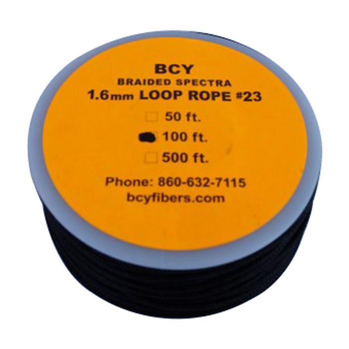 BCY 23 D-Loop Material Black 100 ft.
