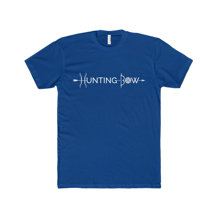Hunting Bow White Logo Men's Premium Fitted T-Shirt