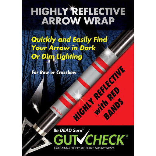 Gut Check Highly Reflective Arrow Wraps Red 6 pk.