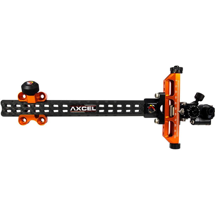 Axcel Achieve Compound XL Sight Orange/ Black 9 in. RH