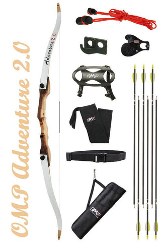 OMP Adventure 2.0 beginner recurve bow package deluxe