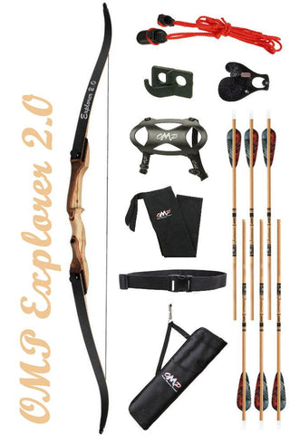 OMP Explorer 2.0 beginner recurve bow package deluxe