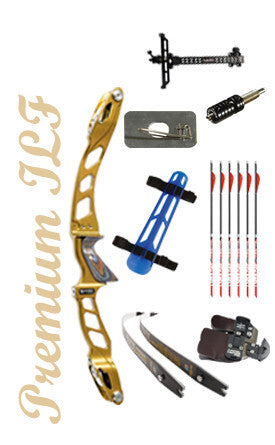 Premium ILF recurve bow Gold Standard Olympic Kit  (complete package)