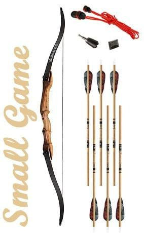 Small Game Hunting Recurve Bow Package