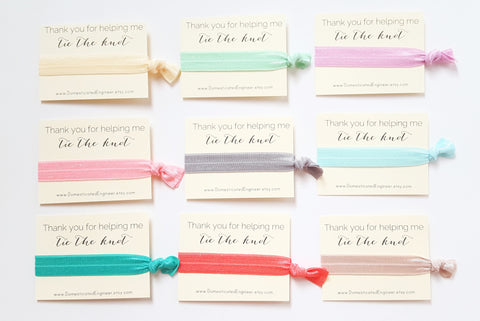 Bridesmaid Hair Tie Sets