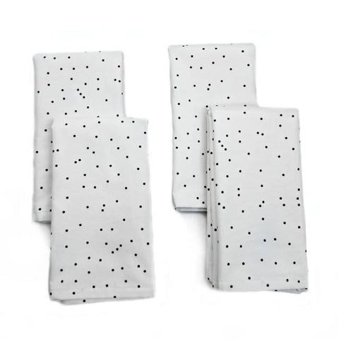 Cloth Napkins - First Frost Print - Set of 4 - 16 Inch Square