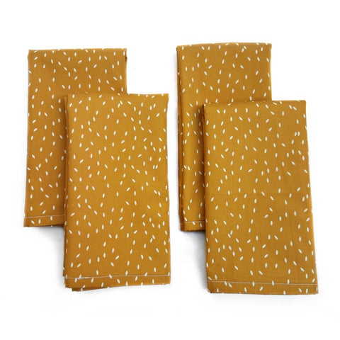 Cloth Napkins - Cinnamon Sugar Print - Set of 4 - 16 Inch Square