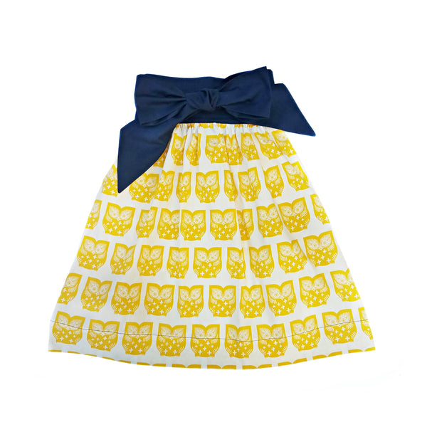 Women's Half Apron - Homey Owl Print - One Size Fits All