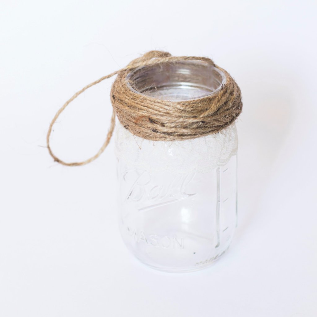 Hanging Mason Jar Vases, Set of 10, Wedding Aisle Decor, Rustic ...